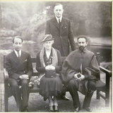 10th Earl of Stamford, Haile Selassie Emperor of Ethiopia, Lady Stamford and Crown Prince