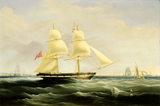 "SEASCAPE WITH THE ""MARY DARE"" by J. M. Huggins, Jr. signed and dated 1842."