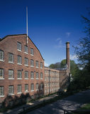 Front Elevation of Quarry Bank Mill, a Georgian, water-powered cotton mill in Cheshire
