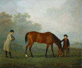 JASON, HIS GROOM AND SIR HARRY HARPUR by Sawrey Gilpin (1733-1807) from Calke Abbey