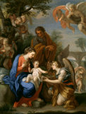 REST ON THE FLIGHT, WITH ANGELS by Giuseppe Chiari (1654-1727) from Calke Abbey