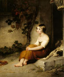 `A CHILD AT A COTTAGE DOOR' (134), by Richard Westall R.A. (1756-1836)