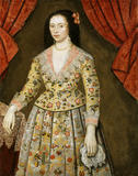 ELIZABETH CRAVEN, LADY POWIS (1600-62) AS A GIRL, a portrait at Powis Castle post-conservation, in the Gateway Room