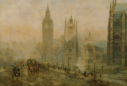 HOUSES OF PARLIAMENT by Herbert Marshall (1841-1913)