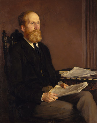 GEORGE FOWNES LUTTRELL (1826-1910) by Cyrus Johnson in the Library at Dunster Castle
