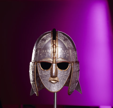 Replicas of finds from the sutton hoo saxon burial site richly decorated anglo saxon helmet of - Cabinet anglo saxon paris ...