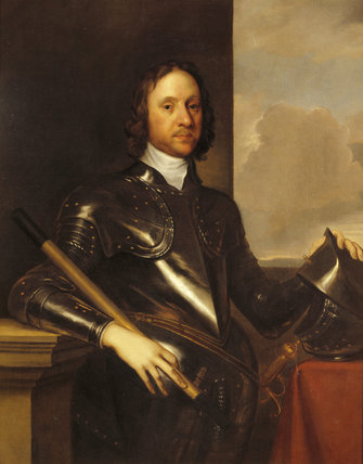 OLIVER CROMWELL by an unknown artist in the Outer Hall at Dunster Castle