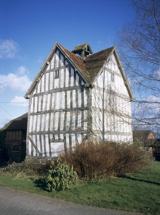 An exterior view of the Hawford Dovecote