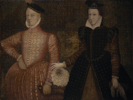 PORTRAIT OF MARY QUEEN OF SCOTS AND DARNLEY English school mid 16th Century at Hardwick Hall