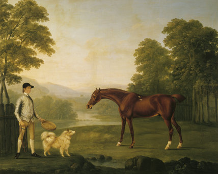 HORSE AND JOCKEY at Fenton House, in the manner of George Stubbs