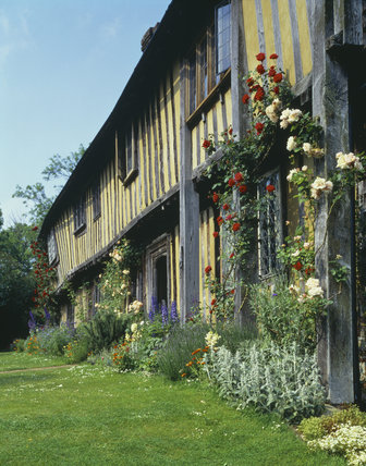 The exterior of Smallhythe Place in Kent, an early 16th century half-timbered house and former home of Ellen Terry