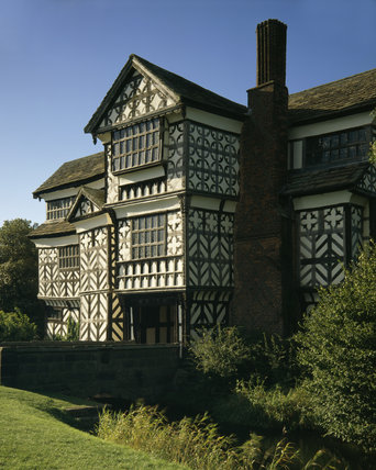 The exterior of Little Moreton Hall in Cheshire