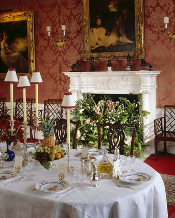 Partial view of the Dining Room at Polesden Lacey