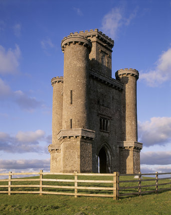 View of Paxton's Tower, Carmarthenshire