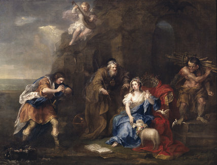 A SCENE FROMTHE TEMPEST (Act I, Scene II), by William Hogarth (1697-1764) in the Crimson Room at Nostell Priory