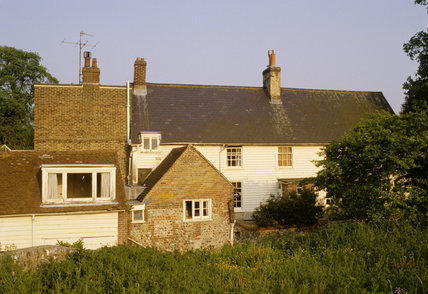 The 17th century Monk's House in Rodmell, former home of Virginia and Leonard Woolf 1919-1969