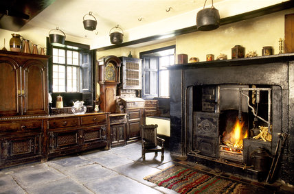 The Townend kitchen of the yeoman farmhouse at Troutbeck dating mainly from the C17th
