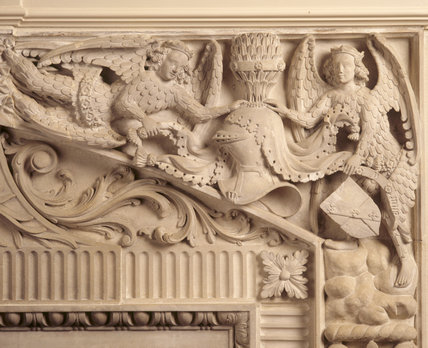 A detail from the ceiling of the Long Gallery at Blickling Hall