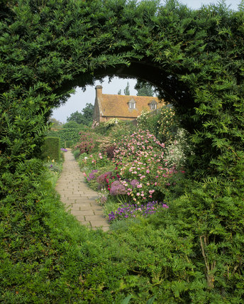 View from Cottage Garden to Rose Garden, Sissinghurst Castle Garden