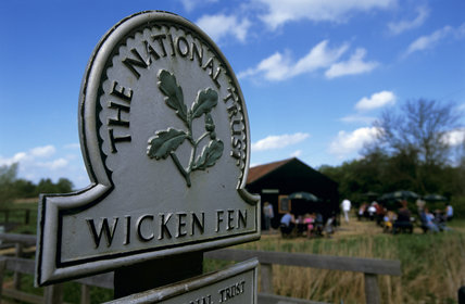 The Omega sign at Wicken Fen, Cambridgeshire