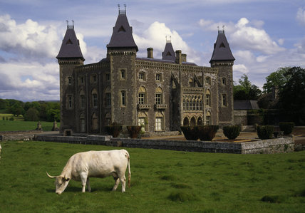 The West Front Of Newton House Victorian Gothic Mansion In Dinefwr Park