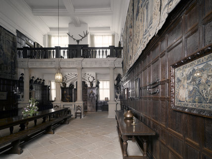 The Great Hall Or Entrance Hall At Hardwick Hall
