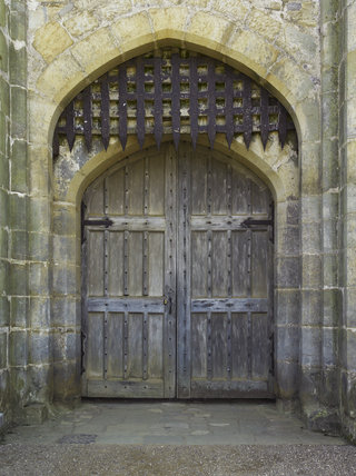The Entrance Gate And Portcullis In The Gatehouse At