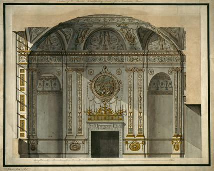 Design for a painted breakfasting room,1768 By Robert Adam