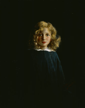 HON HELEN ELIZABETH WARD AS A GIRL, by David Nicholson Ingles, ARHA, (1888-1933).