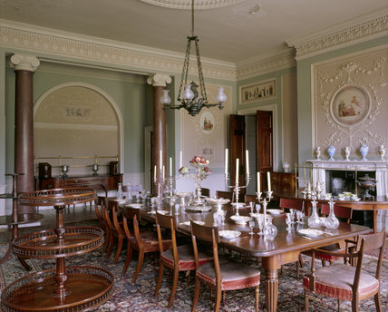 View of the Dining Room at Calke Abbey