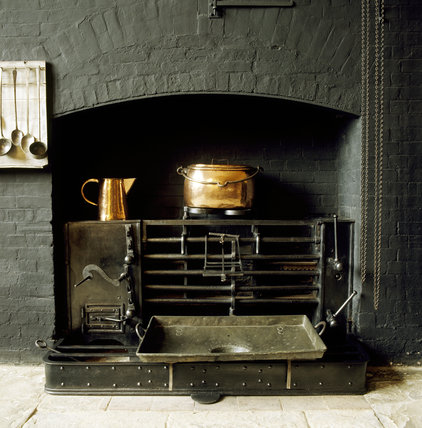 Close up of the mechanically driven roasting spit in The Kitchen at Charlecote Park
