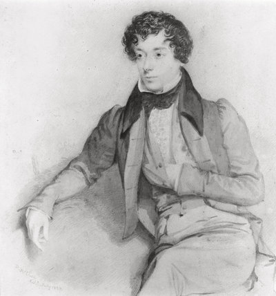 Drawing of Benjamin D'Israeli (1766-1848) by Maclise