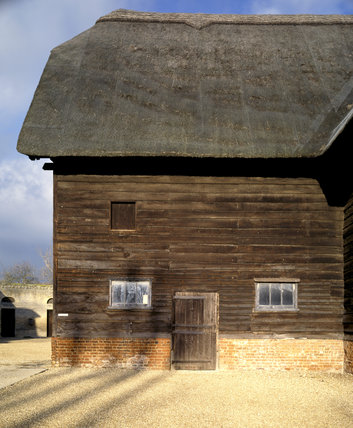 Detail of the Soane farm buildings at Wimpole Hall