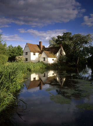 Willy Lott's cottage, the timber-framed farmhouse at Flatford