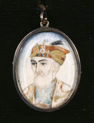 Portrait believed to be NANA SAHIB, a miniature from the Ebony Bedroom at Charlecote