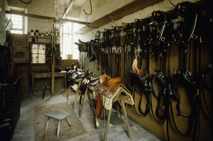 The Saddle Room in the stables at Calke Abbey., Calke Abbey at ...