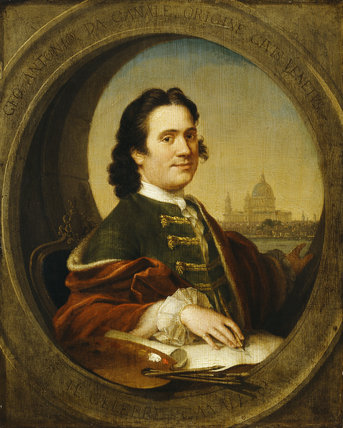 CANALETTO - A Self-Portrait (1697-1768) with St Pauls in the background