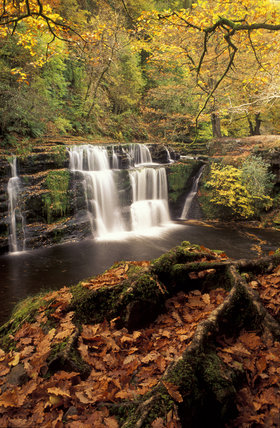 A waterfall in the Brecon Beacons National Park, Wales (Not an NT property)