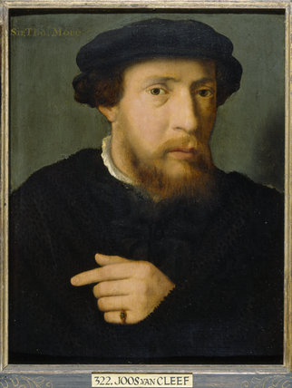 Portrait of a man by Joos van Cleef (also known as van Cleve or Joos van der Beke), a Flemish Northern Renaissance artist ca