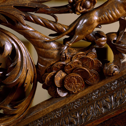 A close up of the magnificent oak staircase installed by Colonel Francis Luttrell in the 1860's