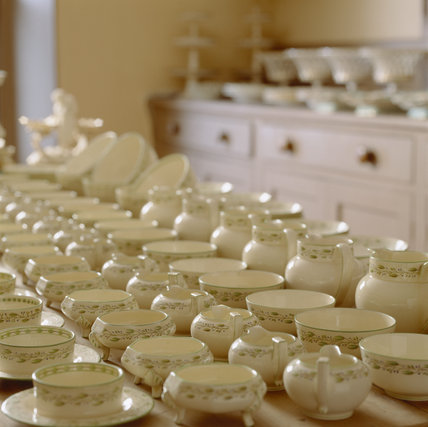 The Wedgewood breakfast service in the China Room