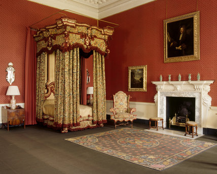The State Bedroom: the State Bed made for Sir Richard Onslow the father of the builder of the house, at the end of the C17th or early C18th
