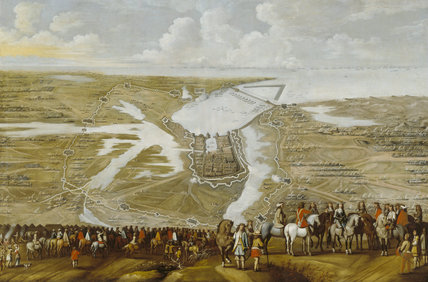 `SIEGE OF LA ROCHELLE', artist unknown, C17th