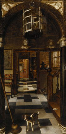 `VIEW DOWN A CORRIDOR' by van Hoogstraeten