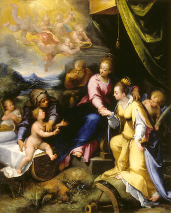 THE MYSTIC MARRIAGE OF ST CATHERINE OF ALEXANDRIA by Denys Calvaert (1540-1619) from Stourhead