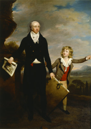 SIR RICHARD COLT HOARE (1758-1838) AND HIS SON HENRY (1784-1836) by Samuel Woodforde (1763-1817) from Stourhead