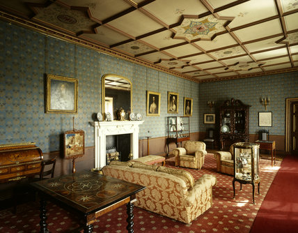 View Of The Old Drawing Room At Oxburgh Hall Showing The