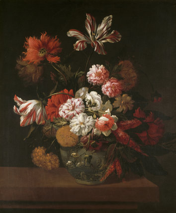 FLOWERS IN A CHINA VASE attributed to Jean Baptiste Monnoyer (1636-99) from the Drawing Room at Polesden Lacey