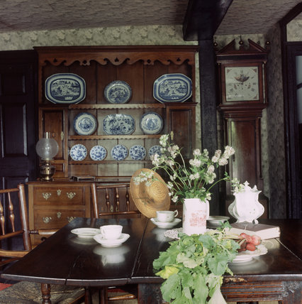 The Landing on the first floor at Hill Top, the home of Beatrix Potter in Sawrey, Cumbria