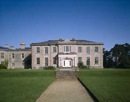 View of the west front of The Argory, showing the original house built 1820-24, with the north front, built c